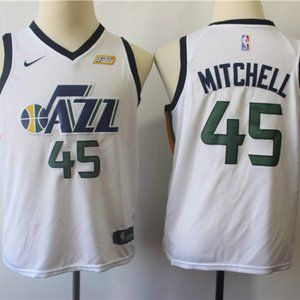 Youth Utah Jazz Donovan Mitchell White Jersey